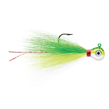 VMC Bucktail Jig 1/4oz Green Fire UV 2-pk