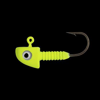 Lunker City Fin-S Chartreuse Jig Head 1/32oz 5-pk