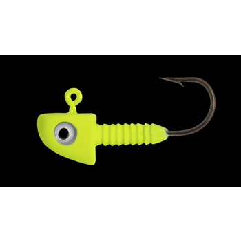 Lunker City Fin-S Chartreuse Jig Head 1/8oz 5-pk