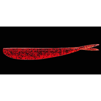"Lunker City Fin-S Fish 4"" Red/Red Pepper 10-pk"