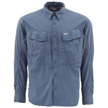 Simms Guide Long Sleeve Shirt, Indigo, XXL