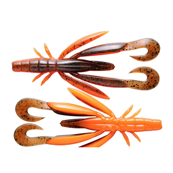 "Jackall Chunk Craw 4"" SI Green Pumpkin/Orange 5-pk"