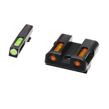 HIVIZ LiteWave H3 Glock Front & Rear Sight Set. Tritium Litepipe Technology.