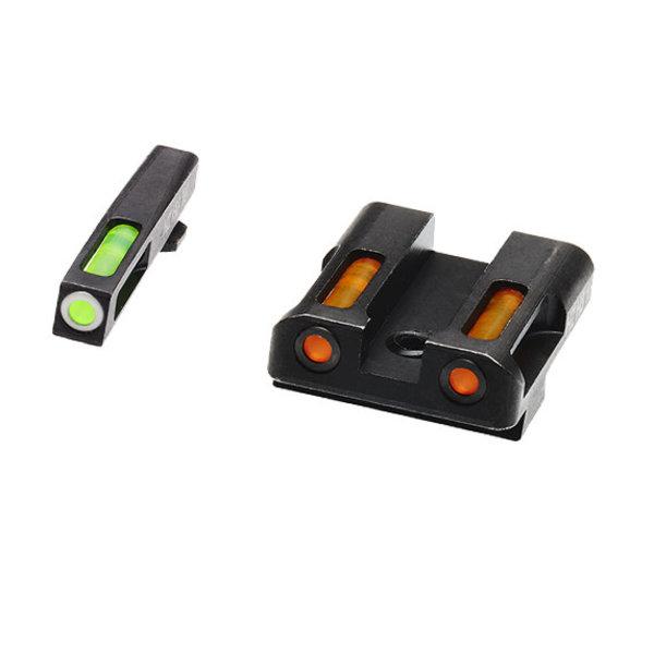 HIVIZ LiteWave H3 Glock Front & Rear Sight Set. Tritium Litepipe Technology.
