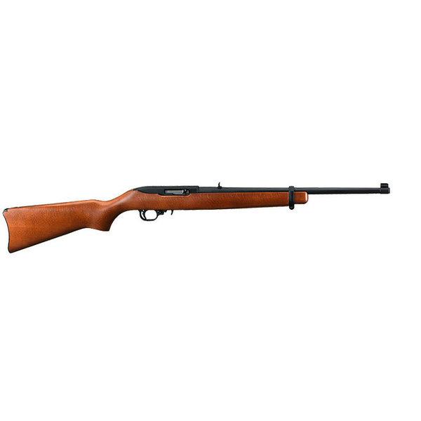 "Ruger 10/22 Carbine Semi-Auto Rifle, .22LR Long Rifle, 18.5"" Barrel, 10 Rounds, Hardwood Stock, Black Matte Finish"