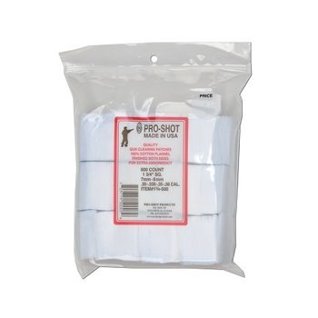 "Pro-Shot Patches, 1-3/4"" Square 7mm-38, 500 Pack"