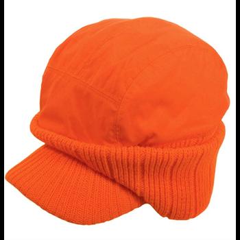 Cap with Ear Warmers, Blaze Orange, O/S