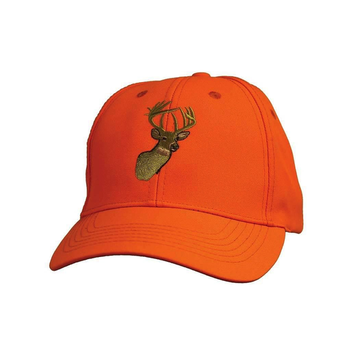 Backwoods Embroidered Cap, Blaze Orange Deer Logo