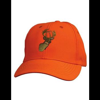 Embroidered Cap, Blaze Orange Deer Logo
