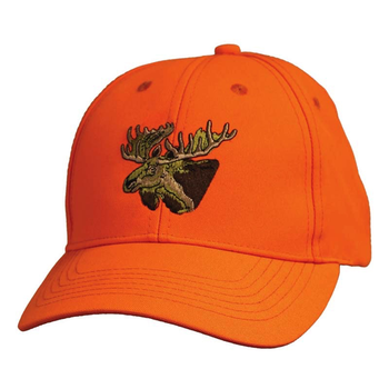 Backwoods Embroidered Cap, Blaze Orange Moose Logo