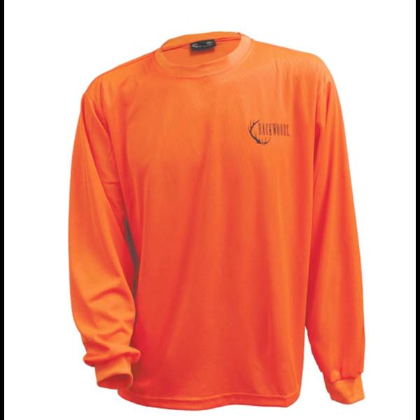 Backwoods Long-Sleeve Shirt, Blaze Orange, XL