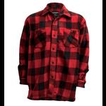 Backwoods Lumberjack Fleece Shirt, Red/Black Check, L