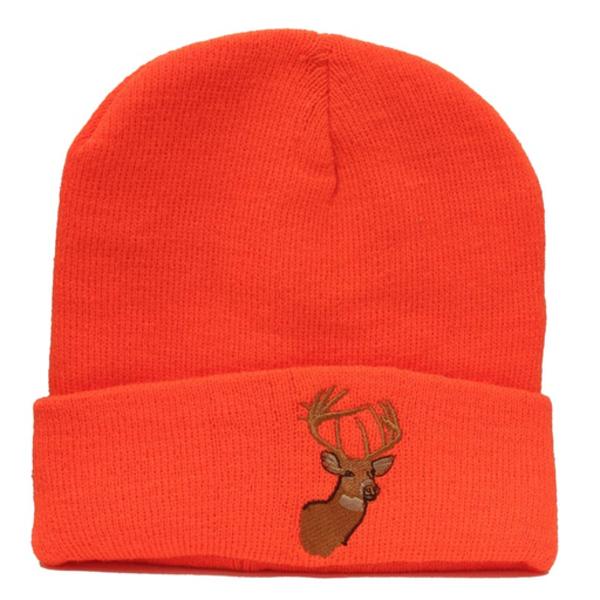 Backwoods Thinsulate Knit Toque, Blaze Orange Deer