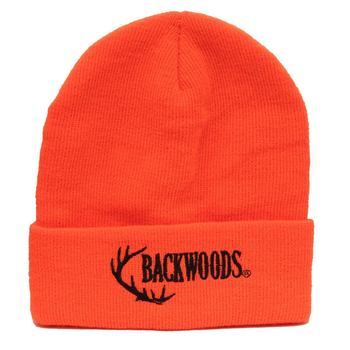 Backwoods Thinsulate Knit Touque, Blaze Orange Backwoods Logo