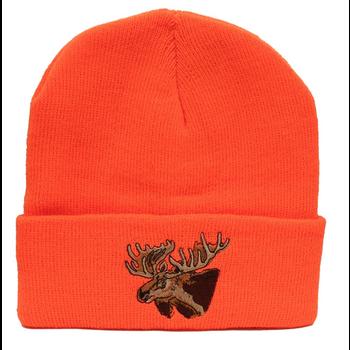 Backwoods Thinsulate Knit Touque, Blaze Orange Moose