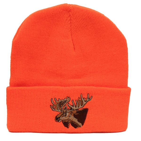 Backwoods Thinsulate Knit Touque, Blaze Orange Moose