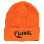 Backwoods Thinsulate Kid's Knit Touque, Blaze Orange Backwoods Logo