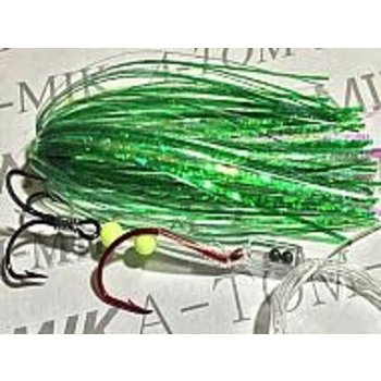 Tournament Rigged Fly, Crinkle Green UV