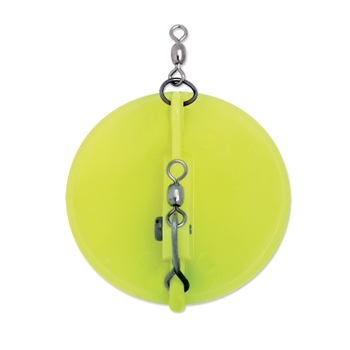 Luhr Jensen Dipsy Diver Size 0 Chartreuse/White Bottom