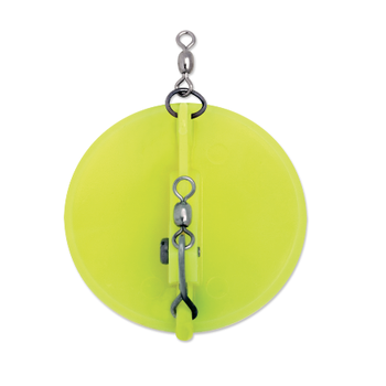 Luhr Jensen Magnum Dipsy Diver Size 3 Chartreuse/White Bottom
