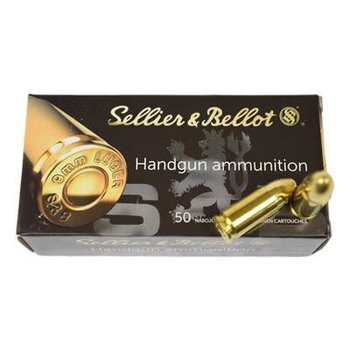 Sellier & Bellot Ammo, 9mm Luger 115gr Full Metal Jacket