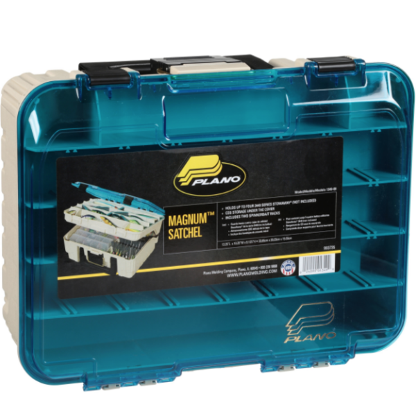 Plano Two-Tier Magnum Satchel Tackle Box.