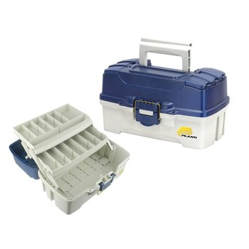 Plano Two Tray Tackle Box. Blue