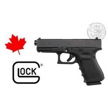 Glock 19 Gen 4 Canadian Edition - 9mm, 106mm BBL, Maple Leaf Engraved.