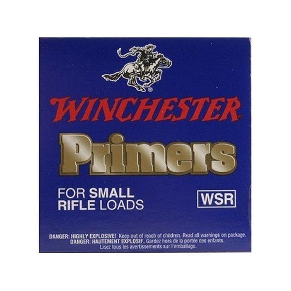 Winchester WSR Small Rifle Primers 100 Primers Per Tin