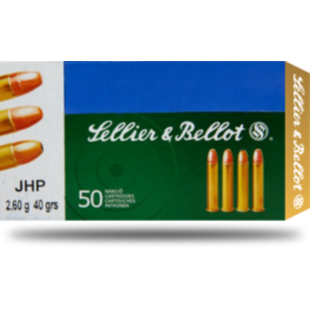 Sellier & Bellot .22 WMR 40GR JHP Ammunition