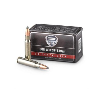 MFS 308 Win 140gr SP Ammunition
