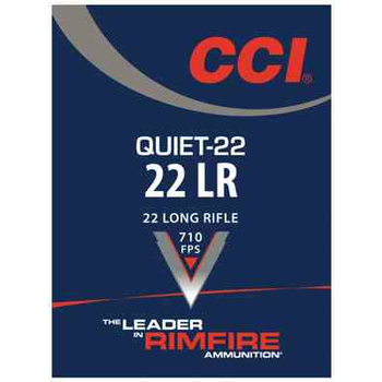 CCI Quiet Ammo 22 LR 40gr Lead Round Nose 50 Rounds