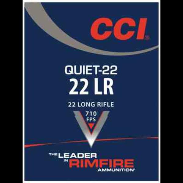 CCI Quiet Ammo 22 LR 40gr Lead Round Nose 50 Rounds