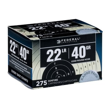 Federal Target Ammo 22 LR 40gr Lead Round Nose 275 Rounds