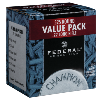 Federal CHAMPION .22LR High Velocity 525 Rnd Bulk Pack Ammunition