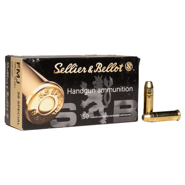 Sellier & Bellot 38 Spl 158gr FMJ Ammunition