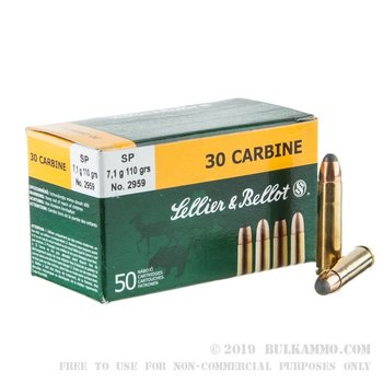 Sellier & Bellot .30 Carbine 110gr FMC Ammunition