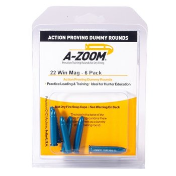 A-Zoom Snap Caps 22 Win Mag Proving Dummy Rounds 6/Pk