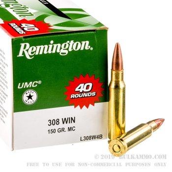 Remington 308 Win 150GR FMJ 40RNDS