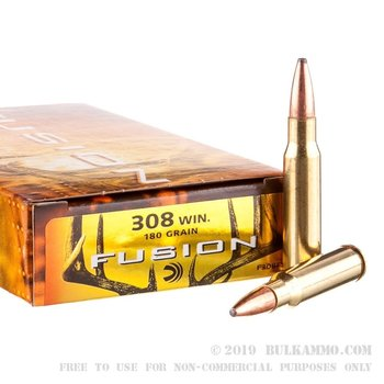 Federal Fusion Rifle Ammo 308 Win 180gr 2600fps, 20 Rounds