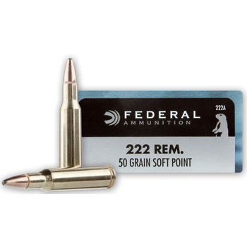 Federal 222 Rem 50gr Soft Point