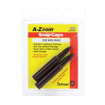 A-Zoom Snap Caps 338 Win Mag 2/Pk