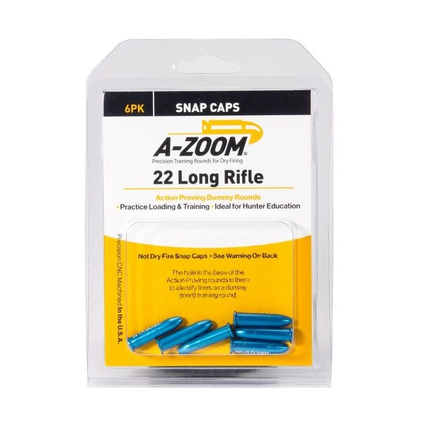 A-Zoom Snap Caps 22 LR Proving Dummy Rounds 6/Pk