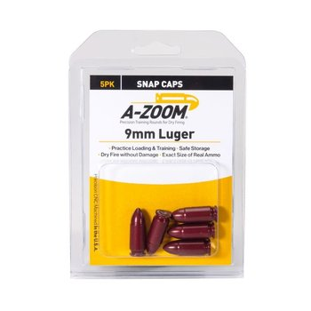 A-Zoom Snap Caps 9mm Luger 5/Pk