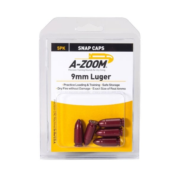 A-Zoom Snap Caps 9mm Luger 5/Pk