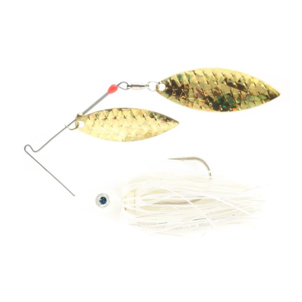 Nichols Pulsator Shattered Glass 1/2oz Blue Shad Gold. Double Willow