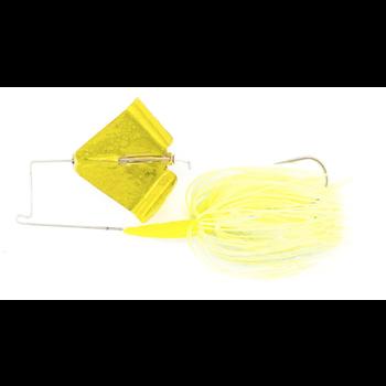 Nichols Reflex Metal Flake Buzzbait 3/8oz Transparent Chartreuse