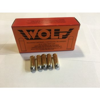 Wolf Remanufactured Handgun Ammo 45 Long Colt 250gr RNFP Lead Wolf Brass Total Metal Jacket 50 Rounds