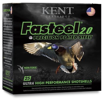 "Kent Fasteel 2.0 12ga 3"" 1 1/4OZ Size 2 Precision Plated Steel"
