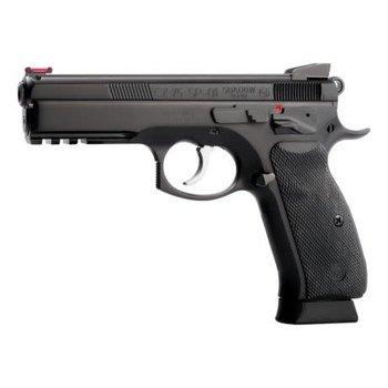 "CZ Model SP-01 Shadow Semi-Auto Pistol, 9MM, 4.5"" Bbl, Black Steel Frame, Black Rubber Grip, 10 Rnd, SA/DA, Fixed Sights, Manual Safety"